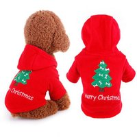 Wholesale Hoodies Christmas - Brand New Pet Dog Cat Christmas Tree Clothes Puppy Hoodie Coat Winter Warm Outfit Apparel 1Pcs Free Shipping[FSA0003]