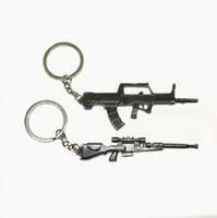 Wholesale Gun Shape Dhl - DHL Free Shipping Cheap Funny Guns Model Metal Keyring Cute Design Gun Shape Keychain For Wholesale