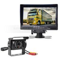 Wholesale Sun Tft - Sun Shade 7 inch TFT LCD Display Rear View Car Monitor + Waterproof IR Night Vision Rear View Camera Car Camera