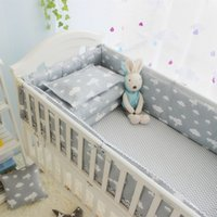 Wholesale Infant Girl Bedding - Multi-size Infant Baby Crib Cot Bed Linen 100% Cotton Detachable Baby Cot Bedding Set In a Crib For a Newborn Baby Girl Boy