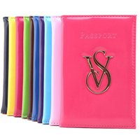Wholesale Purse Protectors - VS Victoria PINK Passport Wallet PU Leather Passport Pouch Cover Organizer Travel Credit Card ID Card Holders Protector kids wallets
