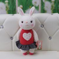 Wholesale Girl Sweet Teddy Bear - Kawaii Plush Sweet Cute Lovely Stuffed Baby Kids Toys for Girls Birthday Christmas Gift 11 Inch Tiramitu Rabbits Mini Metoo Doll