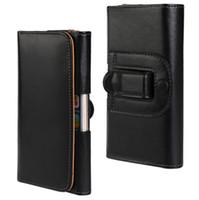 Wholesale Iphone Holder Belt Clip - Lichee Pattern PU Leather Flip Case Waist Holder Hang Pocket Belt Clip Leather Case for iPhone 5 6s 6 plus 7 7plus Samsung S6 S6 edge S7