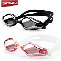 Wholesale Optical Swimming Goggle - Fashion New Water Sports WINMAX Adult Optical Swimming Goggles Waterproof Adjustable UV Anti-fog -2.0&3.5