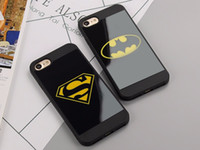 For Apple iPhone black mirror batman - Fashion Superman Batman Mirror Case For iPhone5 s Phone Cover Pouch Silicone Black Phone Bag Cases For iPhone s Plus Capa