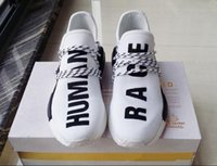 Wholesale NMD Human Race Runner Shoes Yellow Hu man Pharrell Williams nmd Size NMD Boost Running Shoes Orange Black Red