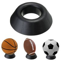 Wholesale Football Bedding - Plastic Ball Stand Basketball Football Soccer Rugby Plastic Display Holder For Box Case KT0091