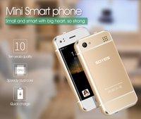 мобильный телефон mtk6572 оптовых-Оригинал SOYES 6S Mini Android Смарт-мобильный телефон MTK6572 Dual Core 2.0MP Dual SIM Двойной режим ожидания Разблокирована Карманный Сотовый Телефон Корея