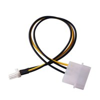 Wholesale laptop ide cables - 200set lot * 20CM Computer Fan IDE 4 Pin Molex Male To 3 Pin Male power Adapter Cable