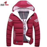Wholesale Asian Coats - Wholesale- Winter jacket Men casual warm cotton down coat mens jackets and coats thicken outwear brand clothing Asian size M~5XL