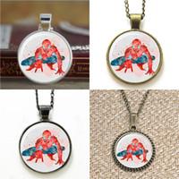 gafas de spiderman al por mayor-10 unids superhéroe ASD2 SpiderMan Art Glass Photo Necklace keyring bookmark gemelos pulsera del pendiente