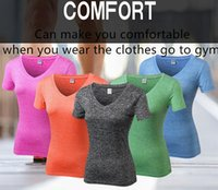 Wholesale Shirts V Skins - Sports Apparel Skin Tights Compression Base Layer Gym Yoga Shirts Sweat Releasing And Quickly-dry Seven Colors For Women