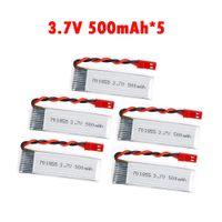 Wholesale Lipo Batteries For Rc Cars - 5pcs lot Lipo Battery3.7V 500mAh 25C lithium polymer batter with JST Plug For FPV RC Quadcopter Drone UDI U815A JJRC H37 SYMA RC car