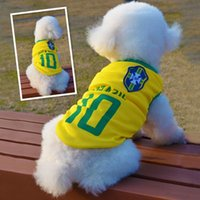 Coats, Jackets & Outerwears sport coat materials - Brazil World Cup Dog Clothes Raul Pirlo Brallack Pet Clothes Fashion Apparel Sporting Material for Dog Pet