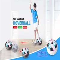 Wholesale Glide White - Cheap price Air Power Soccer Ball LED Light Up flying toy Colorful Disc Indoor Football Multi-surface Hovering and Gliding toy