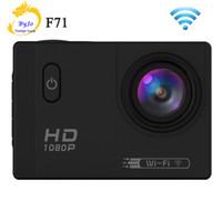 câmera shiping livre venda por atacado-Esporte Câmera Ação F71 Wi-fi HD 1080 P 2.0 polegadas LCD 12MP 30 M À Prova D 'Água 170 graus de Grande-ângulo Mergulho Cam Shiping Livre