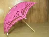 Rose Red Lace Parasol Umbrella Victorian Lady Costume Accesorio Bridal Party Decoration Foto paraguas decorativo