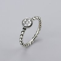 Wholesale Bow Ring Wedding Band - wholesale new Fine jewelry 925 Silver Rings with Women Wedding & Party Clear Fashion Rings CZ Bow Ring Fit Pandora woman ring