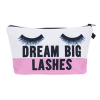 Wholesale Necessaire Makeup - Lashes 3D Printing Necessaire Women Cosmetics Bags New Travel Make up Bag Organizer Maleta de Maquiagem Organizador Makeup Bag