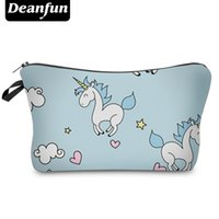 Atacado- Deanfun Fashion Brand Unicorn Cosmetic Bags 2017 New Fashion 3D Printed Women Viagem Maquiagem Case H89