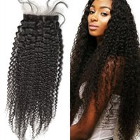 Wholesale tight human hair for sale - Mongolian Tight Curly Silk Base Closure with Baby Hair Non remy Human Hair Silk Top Closure inch FDSHINE