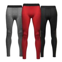 Wholesale Men Trousers Wholesale - Wholesale-Men Compression Pants Skinny Stretchy Long Trousers Tight Inner Leggings