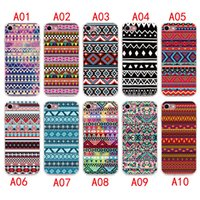 Wholesale Aztec Silicone Iphone Covers - 2017 Aztec Tribal Tribe Case For iPhone 7 6 6S plus Silicone Cover Case Luxury Ultra Thin Soft TPU For iPhone 5 4 se Mobile Phone bag
