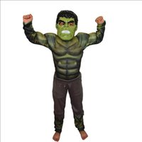 Wholesale Muscle Man Halloween Costume - halloween party cosplay clothes Birthday Boys children's Iron Man muscle Costume Ironman superhero movie costumes Christmas Gift