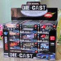 juguetes camión de la policía al por mayor-48 piezas de metal Diecast Toys 1:64 Cars Avión SWAT camiones de bomberos helicóptero 911 Policía ambulancia fuego camiones militares Die Cast City vehículo