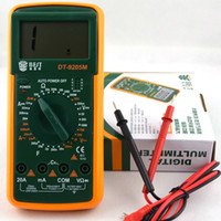 Wholesale lcd digital amp for sale - Group buy DT9205M AC DC LCD Electrical Digital Multi meter Volt Amp Ohm Tester