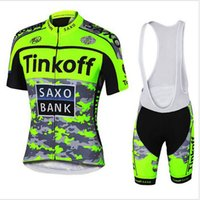 Wholesale Bank Suits - team Tinkoff Saxo Bank cycling jersey sport suit bike maillot ropa ciclismo cycling jersey Bicycle MTB bicicleta clothing set