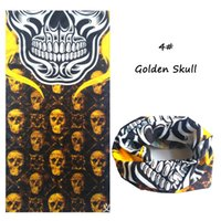 Wholesale Turban Men - Wholesale-New Bandanas Riding Skull Bicycle Motorcycle Riding Variety Turban Magic Headband Multi Head Scarf Scarves