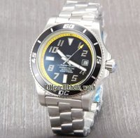 Wholesale Super Speed Stainless - Super Limited Brand Diver Super Ocean 42 A1736402 Speed Black Yellow Dial Automatic Mens Watch Deployment Clasp Rubber Strap Gent Watches