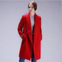 Wholesale Cotton Wool Padding - 2017 New Brand Design Winter Coat Women Warm Cotton-padded Wool Coat Long Women's Cashmere Coat European Fashion Jacket Outwear