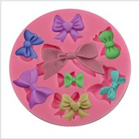 Wholesale Diy Fondant - Food Grade DIY Bow Tie Silicone Mold Cake Mold Silicone Baking Tools Kitchen Accessories Decorations Fondant