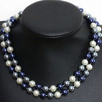 """Wholesale 8mm south sea pearls - Long 32"""" 8mm South Sea Shell Pearl Round Beads Necklace AAA"""