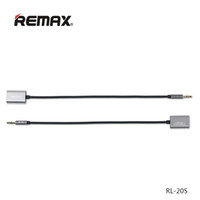 Remax a Split Into Two 3.5mm AUX Cable Plug Audio Wire Jack Para iphone Headphone Speaker MP3