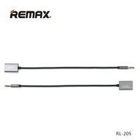 Remax un Split en dos 3.5mm AUX Cable Plug Audio Wire Jack para iPhone Auriculares Altavoz MP3