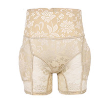 Wholesale Butt Inserts - Women Padded Briefs Sexy Lace Push Up Panties Abundant Buttocks Hip Trainer Butt Lifting Inserts removable pads shaper Underwear