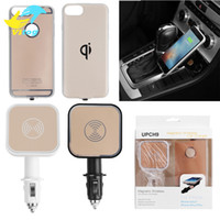 Wholesale qi wireless charger receiver case online – 2017 Qi Standard Wireless Charger Receiver case with wireless charger dock for Iphone6 s plus for Apple iPhone inch Cover