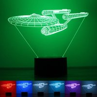 Led Energy Star online - Creative Novelty LED Light Star Trek Energy Saving Plastic 3D Lamp Anti Wear Household Night Lights High Quality 28rm B