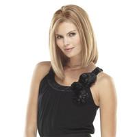pelo largo perruque natural al por mayor-Tijeras rubias largas y rectas para las mujeres blancas Pelo sintético natural Fibra de alto calor Pelucas Mujer Perruque Peruca Sintética Peruk