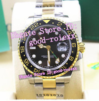 Wholesale Luxury Gold Crystal Watch - Top Luxury Brand Mens Ceramic Bezel Automatic Gmt Basel Watch Men's Steel Gold Watches Men Sapphire Crystal Fair AAA Dive Wristwatches