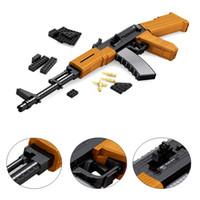 Wholesale Enlighten Brick Military - AK47SVD Sniper Gun Building Blocks Military Weapon Sniper Gun Educational Enlighten DIY Brick Compatible With gift