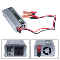 Wholesale Modified Sine - Wholesale- 1500w Car Converter Modified Sine Wave Power Car Inverter DC 12v to AC 220v USB 5V Invertor USB Car Charger Free Shipping