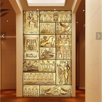 Wholesale Ancient Paper - Wholesale-wall paper 3d art mural HD beauty of ancient Egyptian culture covering Home Decor Modern Wall Painting For Living Room wallpaper