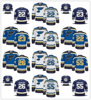 Wholesale Paul Stastny - 22 Kevin Shattenkirk 23 Dmitrij Jaskin 26 Paul Stastny 55 Colton Parayko St. Louis Blues Jersey Men's Stitched Logos