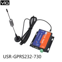Wholesale Gsm Serial - Wholesale- USR-GPRS232-730Free Shipping RS232   RS485 GSM Modems Support GSM GPRS GPRS to Serial Converter DTU Flow Control RTS CTS