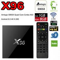 Wholesale android box tv 2k 4k online - X96 Android TV Box Amlogic S905X Quad Core Marshmallow Mini PC GB GB H WIFI K K UHD HDMI P Bluetooth Smart Media Player