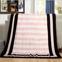 Wholesale Bedspread Plaid - Blanket Victoria 's secret Fleece Bedding Throws on the bed Sofa Car Portable Plaids Bedspread Gift Hot sale
